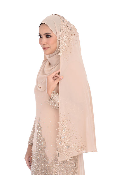 Veil D'YANA Marie - TDG70016 - Dark Brown