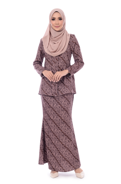 Baju Kurung D'YANA Cathy - BJK20082-D - Dark Brown