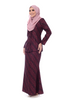 Baju Kurung D'YANA Cathy - BJK20082-D - Black Red