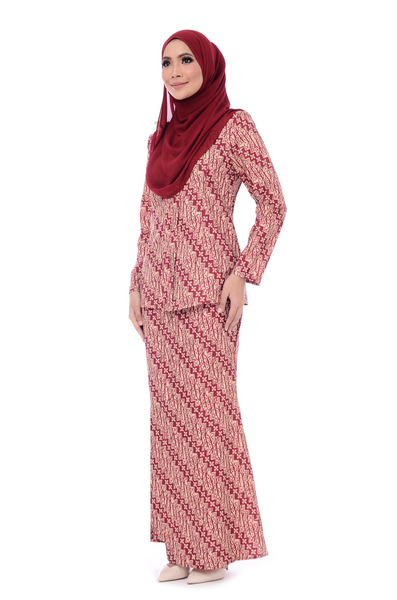 Baju Kurung D'YANA Cathy - BJK20082-D - Cream Red