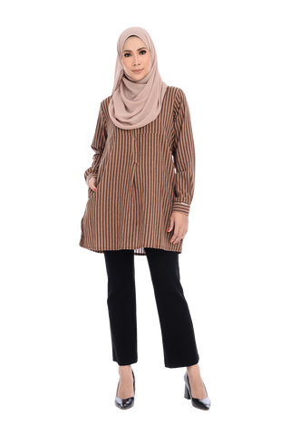 Blouse D'YANA Ester - BL9103-D - Stripe Brown