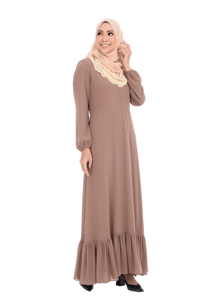 Dress D'YANA Cherise - DRS00026-D - Brown