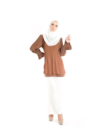 Blouse D'YANA Ellen - BL337D - Brown