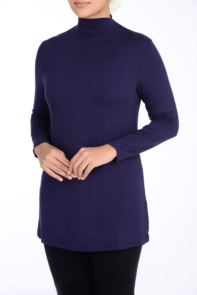 Inner Turtle Neck D'YANA - BL60030 - Blue