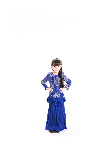 Baju Kurung D'YANA Demi Kids - BJK3053XS-D - Royal Blue