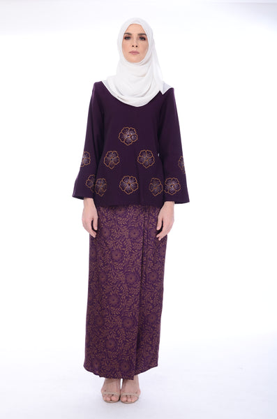 Baju Kurung D'yana Edith - BJK20070- Purple