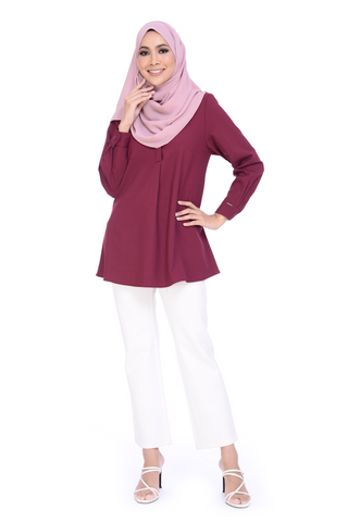 Blouse Maddy - BL356-D - Burgundy