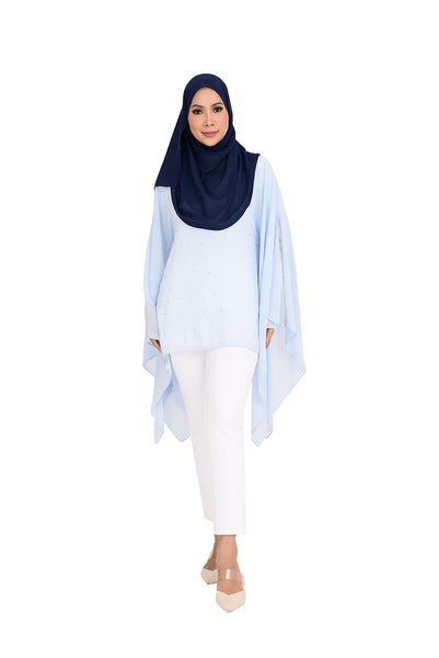Blouse D'YANA Regina -BL388-D- Light Blue