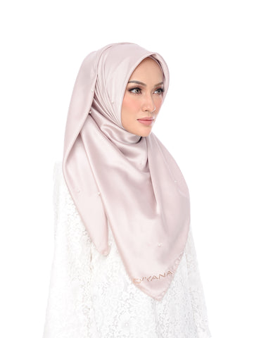 Shawl D'YANA Qisya - 1397T-D - Light Coffee