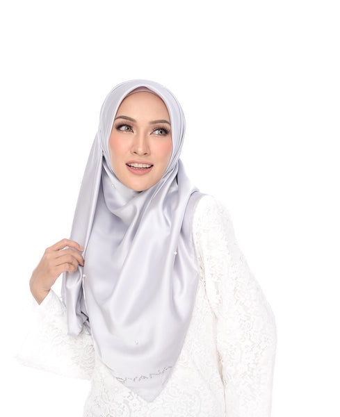 Shawl D'YANA Qisya - 1397T-D - Light Grey