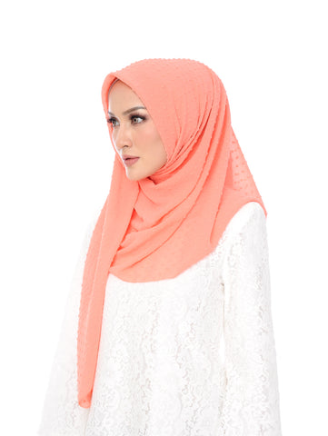 Shawl D'YANA Selma - 1432T-D - Melon Red
