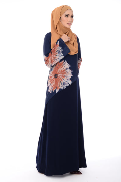 Jubah D'YANA Nova - JBH 8316-D - Blueblack Orange