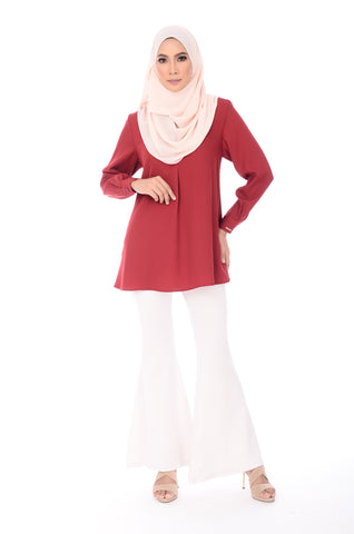 Blouse Maddy - BL356-D - Maroon