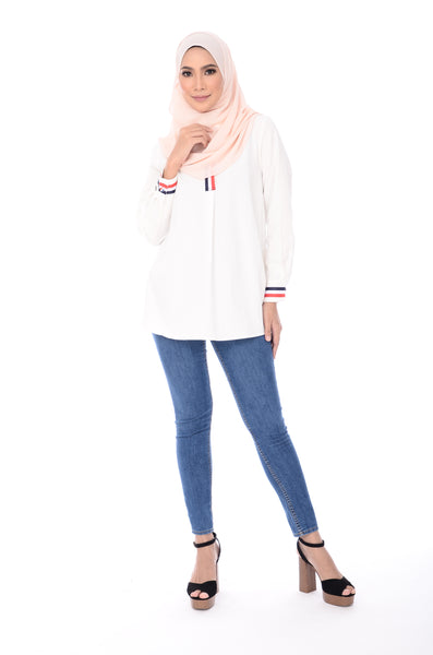 Blouse D'yana Dakota - BL60022-D - White