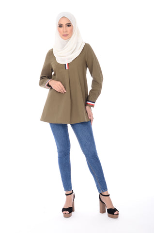 Blouse D'yana Dakota - BL60022-D - Olive Green