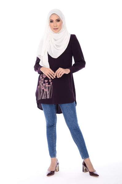 Blouse Isra - BL352-D - Purple