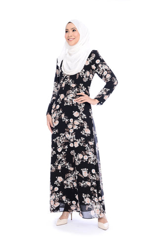 Dress D'YANA Keyla Daisy - DRS00022 - Black