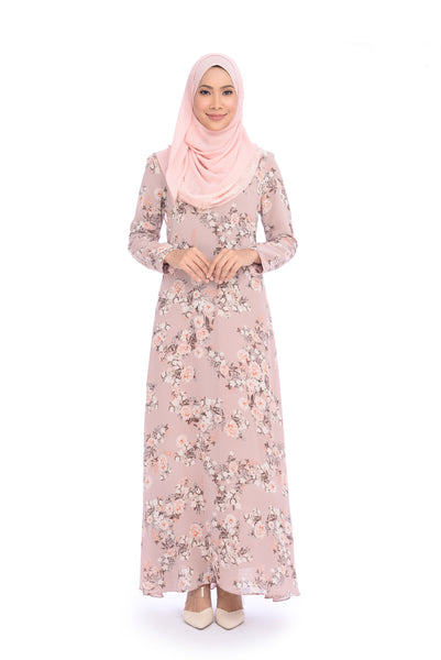Dress D'YANA Keyla Daisy - DRS00022 - Dusty Pink