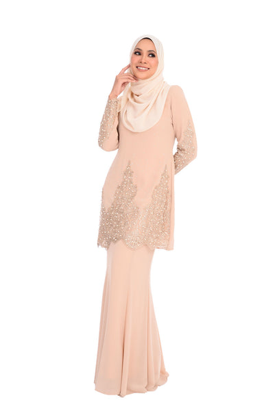 Baju Kurung D'YANA Liliane - BJK3112 - Light Brown