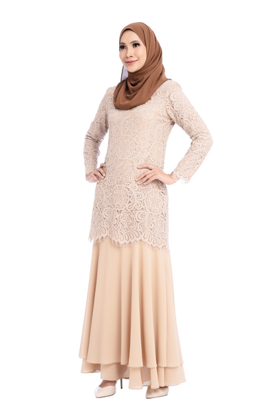 Dress D'YANA Savanna - DRS00018-D - Light Brown