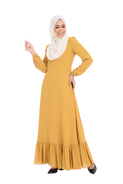 Dress D'YANA Cherise - DRS00026-D - Mustard