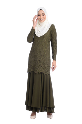 Dress D'YANA Savanna - DRS00018-D - Olive Green