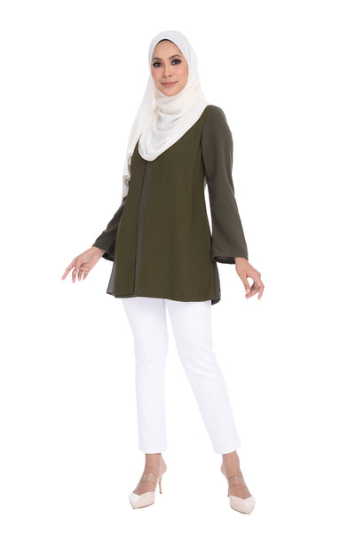 Blouse D'YANA Renee - BL60037 - Olive Green