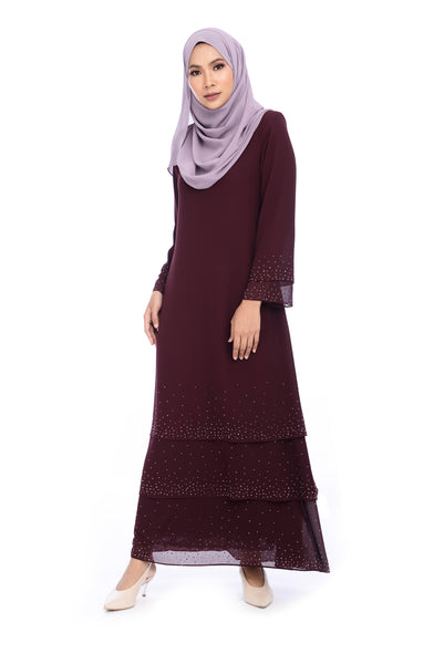 Dress D'YANA Sienna - DRS00019 - Burgundy