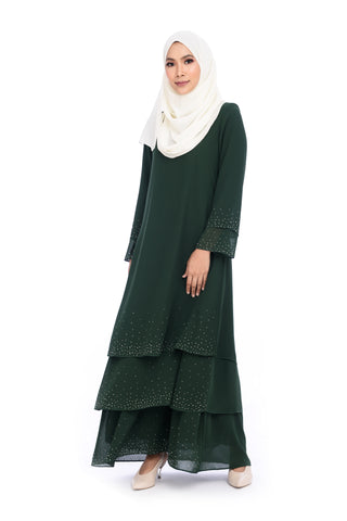 Dress D'YANA Sienna - DRS00019 - Emerald Green