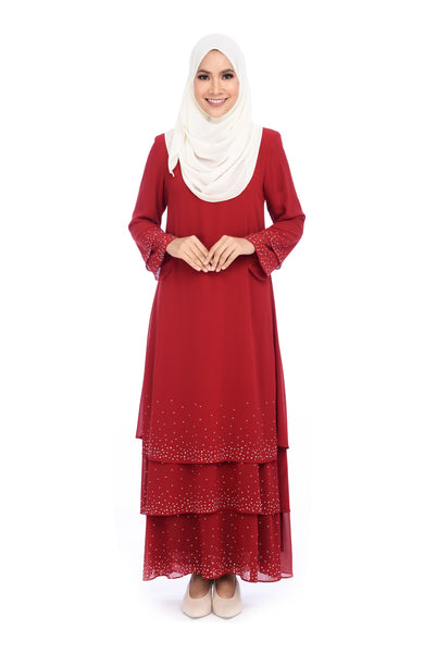 Dress D'YANA Sienna - DRS00019 - Red