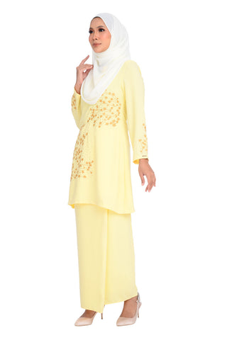 Baju Kurung D'YANA Shea - BJK3122 - Light Yellow