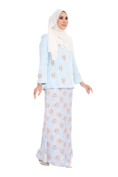 Baju Kurung D'YANA Selma - BJK3116 - Light Blue