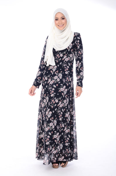 Dress D'Yana Keyla - DRS00016 - Blueblack
