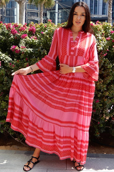 LILIES 1 RED ADULT KAFTAN - LILIS BOUTIQUE