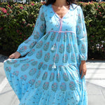 LILIES ADULT BLUE KAFTAN - LILIS BOUTIQUE