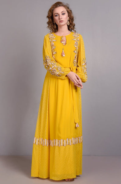 VERB 04 YELLOW KAFTAN - LILIS BOUTIQUE