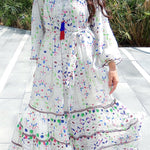 HEMANT AND NANDITA SINDHI 167 MULTI KAFTAN - LILIS BOUTIQUE