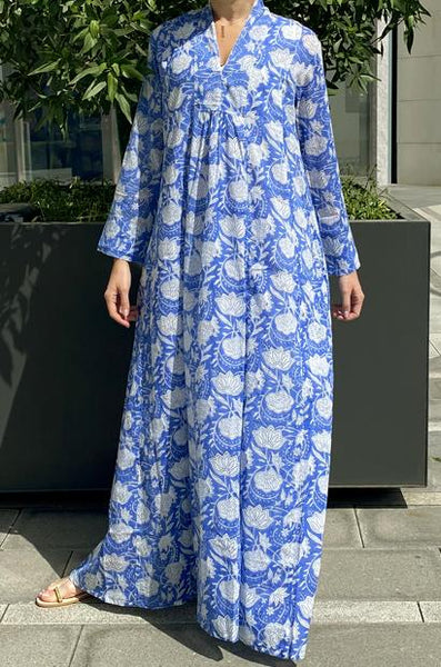 ANAVILA STUDIOS SHELLY BLUE KAFTAN - LILIS BOUTIQUE