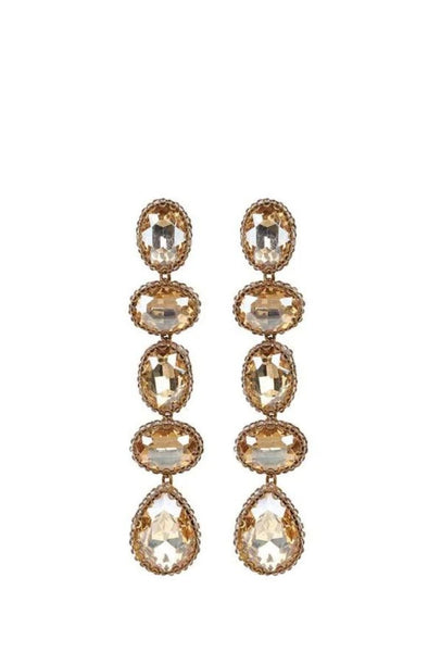 DEEPA GURNANI TYRA SILVER EARRINGS JEWELRY