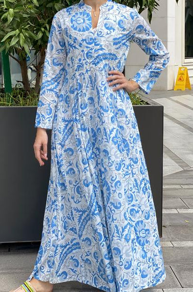 ANAVILA STUDIOS WESTCHESTER LIGHT BLUE KAFTAN - LILIS BOUTIQUE
