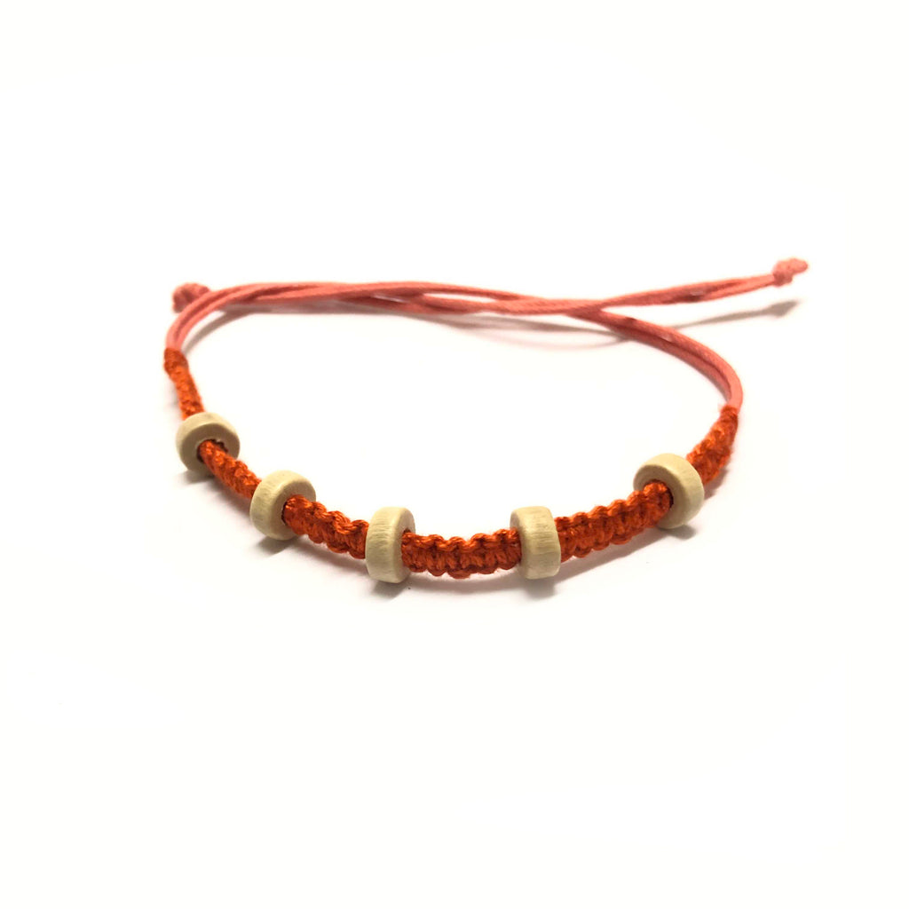 Rakhi Beads Band-Orange