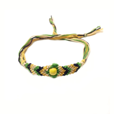 Handmade Thread Rakhi_yellow