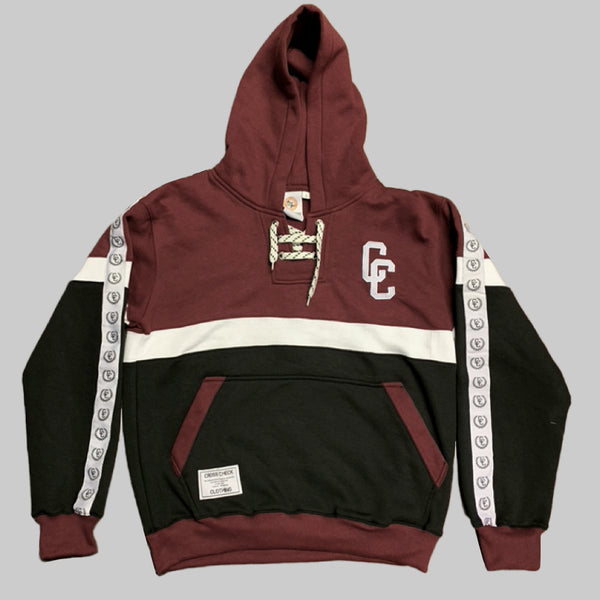Classic Laces Hoodie Burgundy