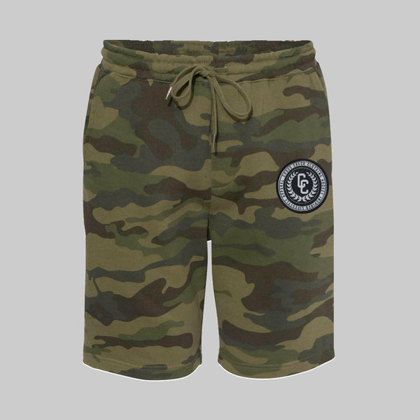 College Camo Sweat Shorts