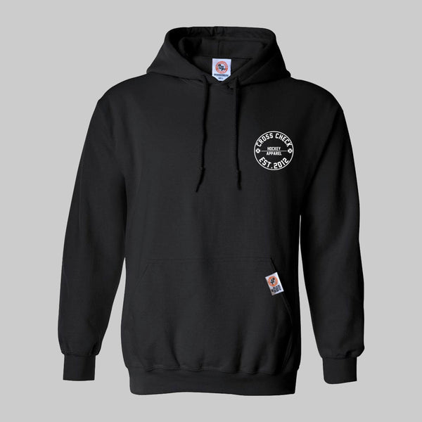 Centre Ice Hoodie Black - Cross Check Clothing