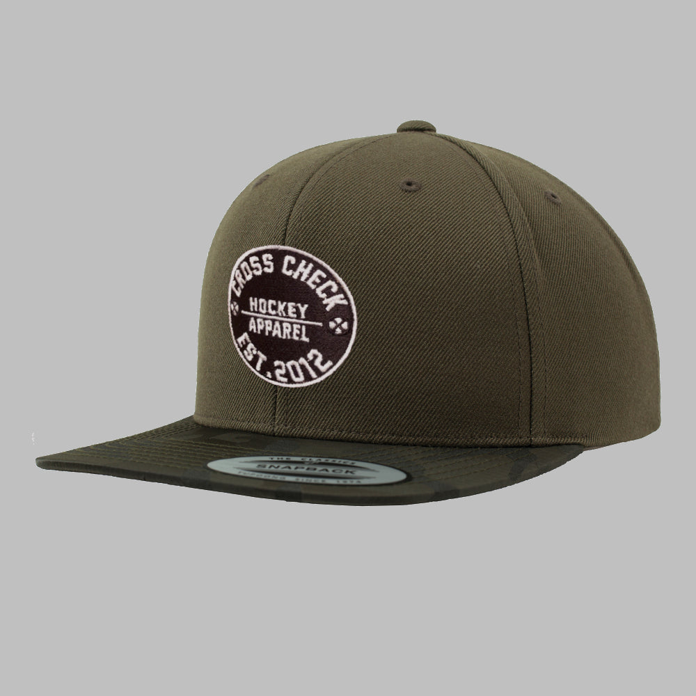 Centre Ice Snapback Camo - Cross Check Clothing