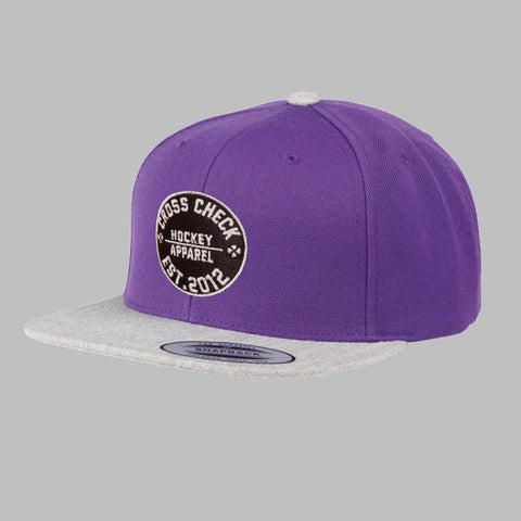 Centre Ice Snapback Purple - Cross Check Clothing