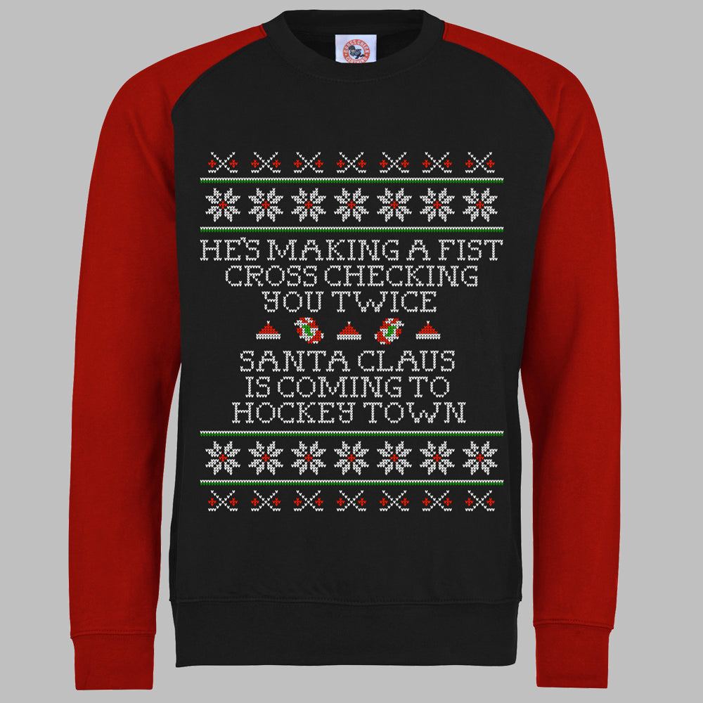 Cross Checking Xmas Sweater