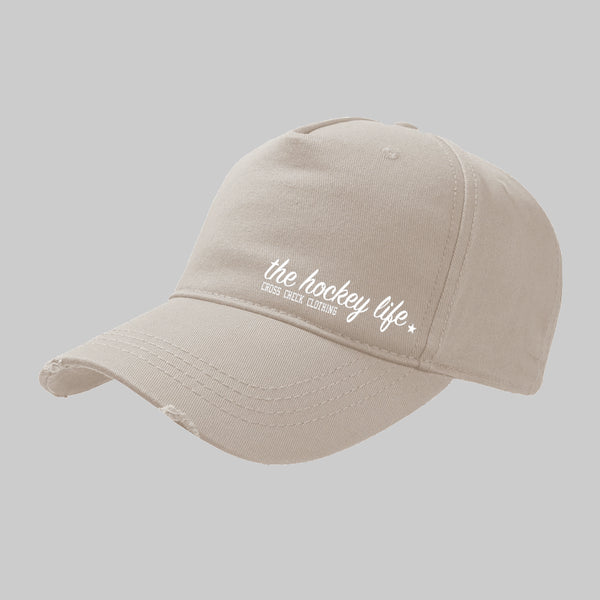 HockeyLife Distressed Cap Sand