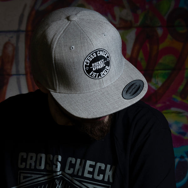 Centre Ice Snapback Grey - Cross Check Clothing
